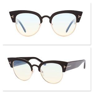 New TOM FORD Alexandra Black Cat Eye Glasses